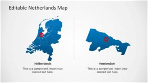 netherlands map powerpoint free editable netherlands map template for powerpoint slidemodel