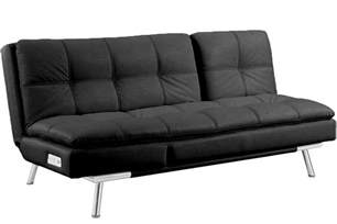 leather futons black leather futon sleeper palermo serta modern lounger