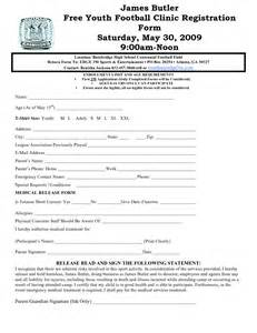 football registration form template best photos of youth sports sign up sheets sports snack