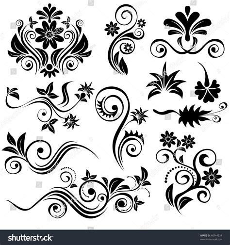 floral design elements vector set set of vector floral design elements 46744234 shutterstock