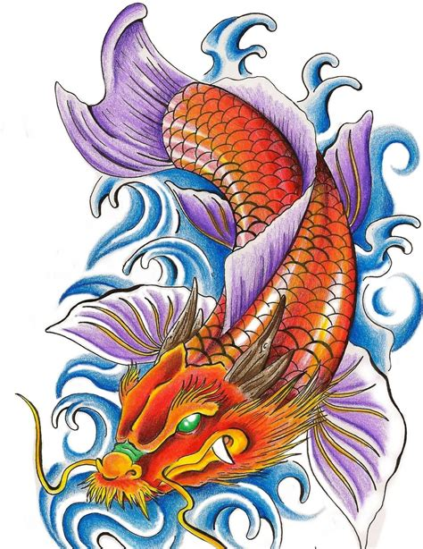 coloured dragon tattoo designs 24 fish designs