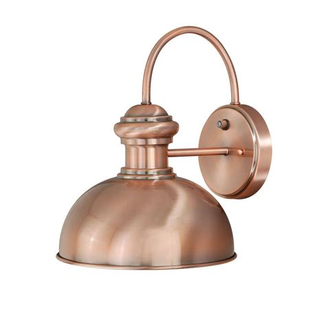 Copper Outdoor Lights Vaxcel Lighting T0015 Franklin 10 Outdoor Wall Sconce In Copper