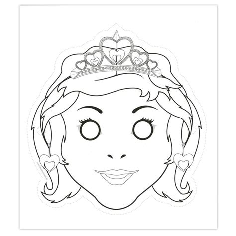 printable girl mask 25 best images about thema ridders en prinsessen on