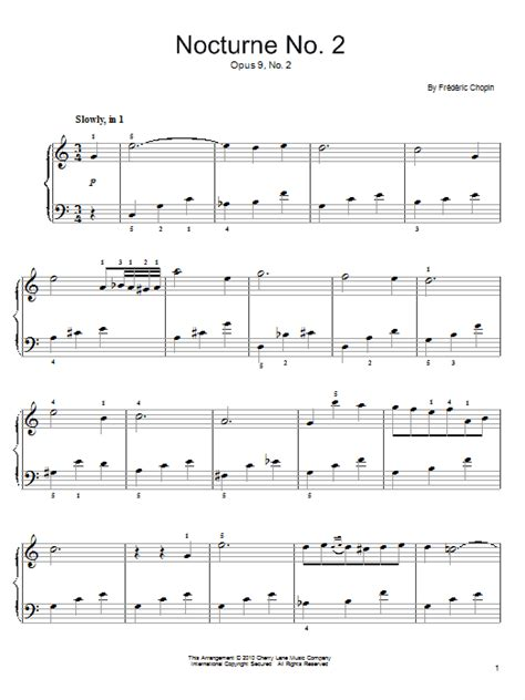 tutorial piano nocturne nocturne in e flat major op 9 no 2 sheet music by