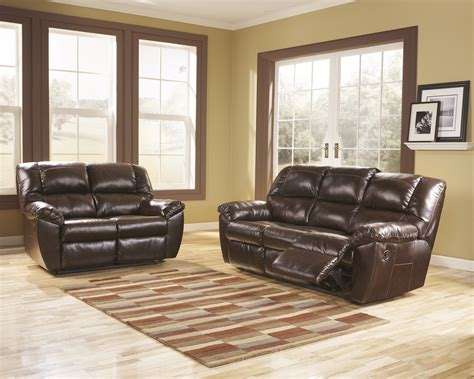 ashley living room set buy ashley furniture rouge durablend mahogany reclining