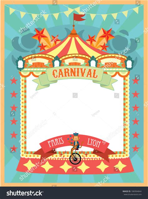 carnival template vectorillustration stock vector
