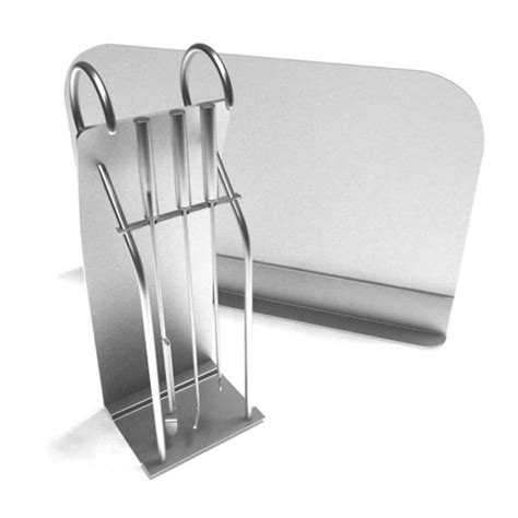 stainless steel fireplace cleaning and ope 3d model