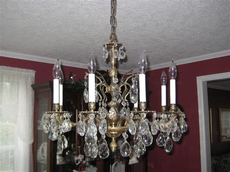 traditional dining room chandeliers large vintage brass and crystal chandelier traditional