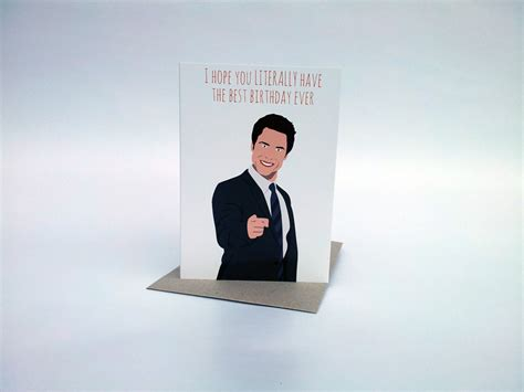 Parks And Rec Birthday Card Birthday Card Parks And Recreation Card Chris By