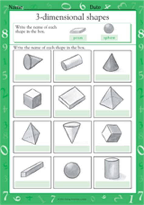 printable 3 dimensional shapes naming 3 dimensional shapes iii math practice worksheet