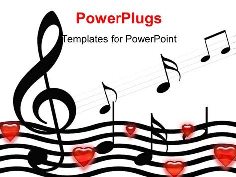 templates for powerpoint music powerpoint template music symbols and hearts over white