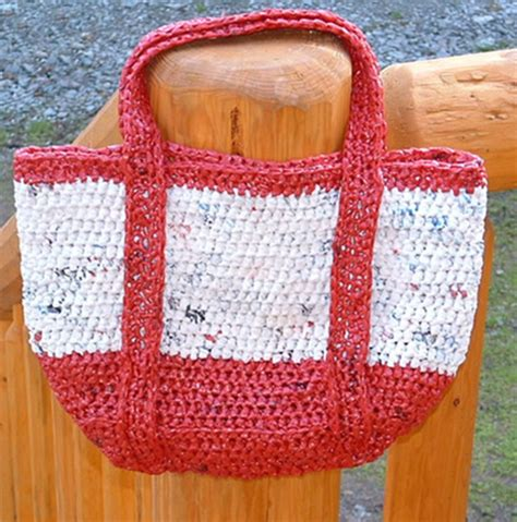 crochet pattern plastic bag tote miss julia s patterns free patterns with plarn recycled