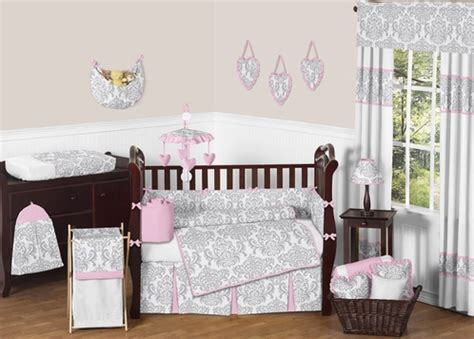 pink and gray nursery bedding sets pink gray and white elizabeth baby bedding 9pc crib set by sweet jojo designs only 189 99