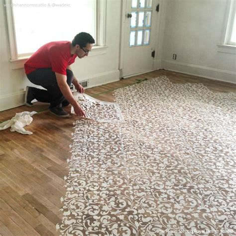 floor painting ideas amazing stencil projects for insta inspiration wall