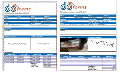 email pdf excel reports doforms support
