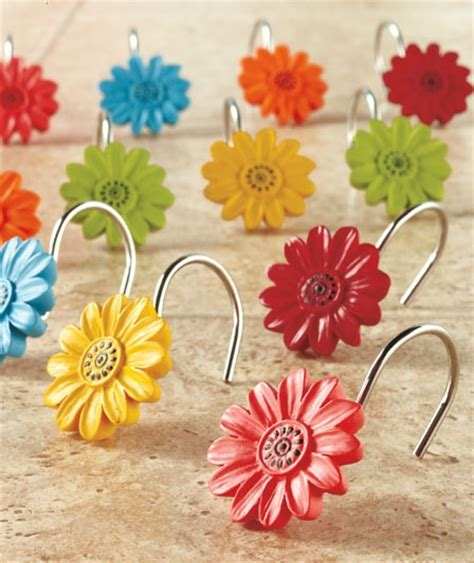 gerber daisy shower curtain gerber daisy shower curtain hooks for the home pinterest