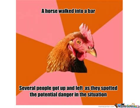 Chicken Meme Jokes - anti joke chicken by shoxx meme center