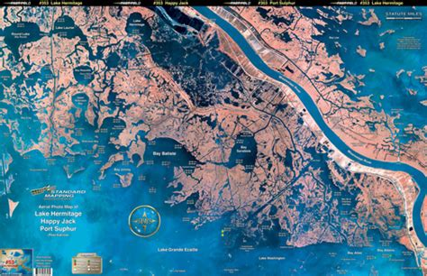 louisiana fishing map lake hermitage happy port sulphur aerial chart la53 keith map service inc