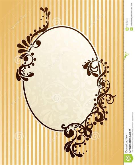 oval vintage sepia frame stock vector illustration