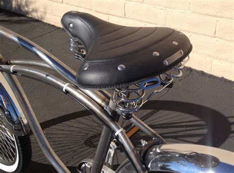 classic leather cruiser bicycle saddles