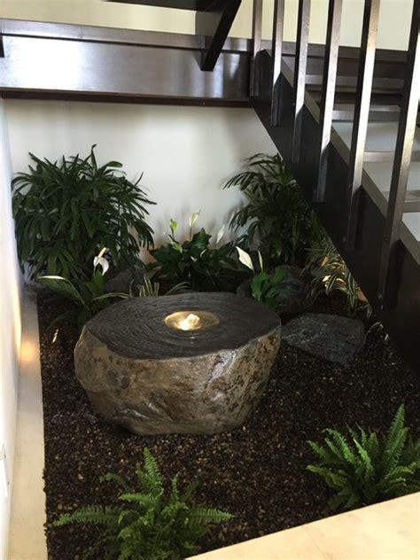 indoor zen garden contemporary staircase los angeles