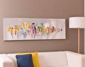 tableau panoramique motif abstrait becquet
