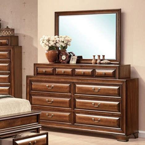 mirror finish bedroom furniture dreamfurniture com konance brown cherry finish dresser