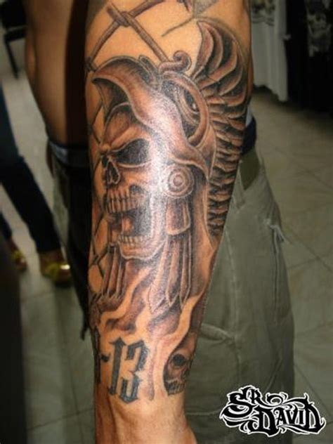 aztec skull tattoo for forearm tattoos book 65 000