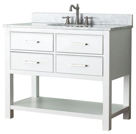 42 Single Sink Bathroom Vanity 42 In Single Vanity In White Finish Contemporary Bathroom Vanities And Sink Consoles By