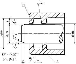 sedi seeger progetto sedi degli o rings per tenuta dinamica