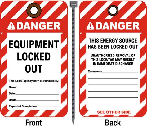 danger lock out tag out label c4166l by safetysign com
