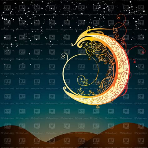 stylized fantasy moon covered  ornament vector image