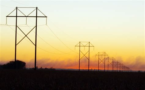 electric line powerline sunset geothunder photography