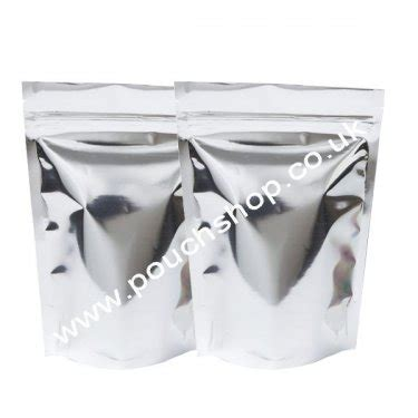 Gusset Colour Silver Uk 150g 9x186 buy shiny silver sup stand up pouches sup foil