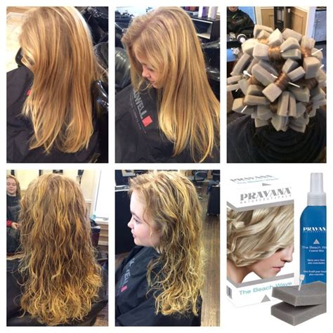 before and after photos of permant waves with frizzy hair pravana beach wave demi permanent re texture no fuss curls hair pinterest beaches