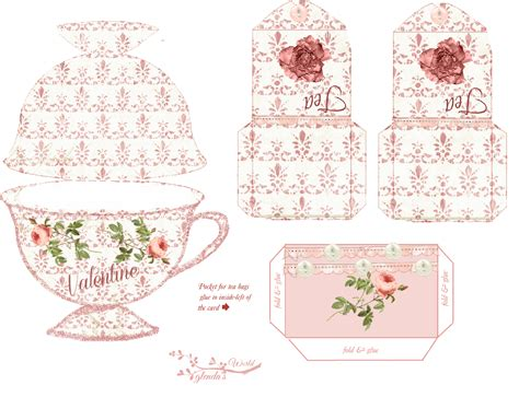 tea card template customize glenda s world roses and tea card kit