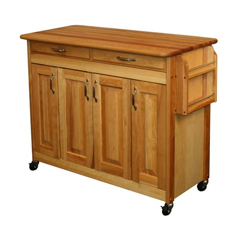 catskill craftsmen 5422 butcher block island with raised