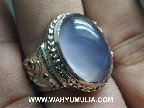 Spritus Muda Anggur batu cincin blue chalcedony baturaja asli kode 589
