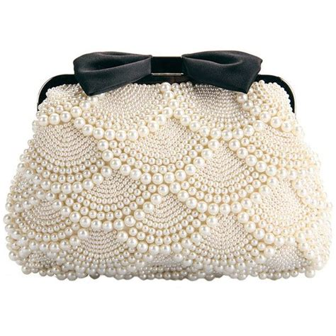 Clutch Bag Fashion 68 pearl bow tie shoulder bag 61 liked on polyvore