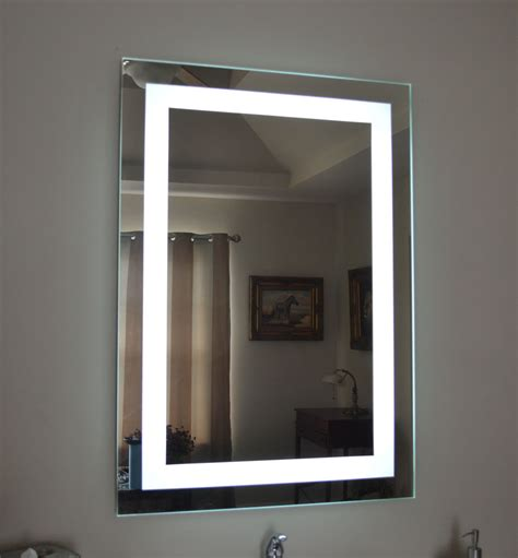 Wall Mounted Bathroom Mirror Lighted Bathroom Vanity Make Up Mirror Led Lighted Wall Mounted Mam82836 28x36 Ebay