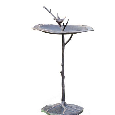 spi birds on branch sundial birdbath 33348 the home depot