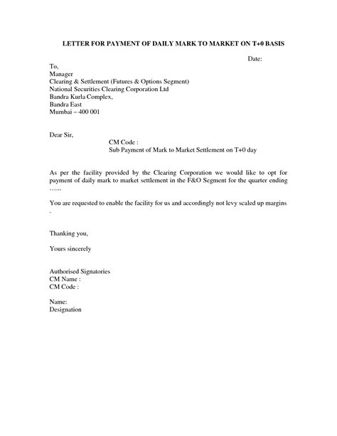 Request Letter Format For Advance Payment Payment Letter Format Best Template Collection