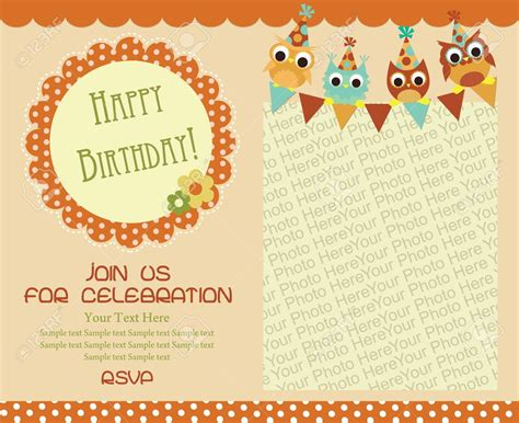 Birthday Invitation Card Template by Happy Birthday Invitation Cards Happy Birthday