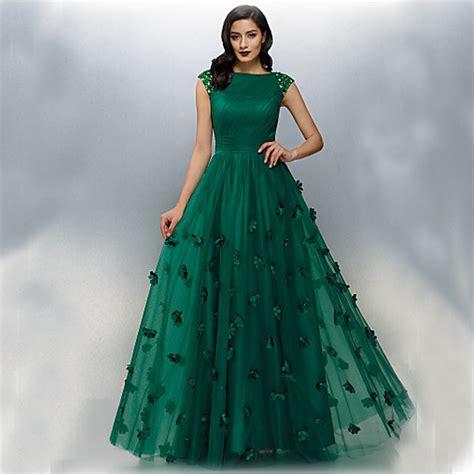 elegant dark green sexy long evening dresses