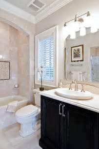 Dark Vanity In Small Bathroom Pink Sink Black Vanity Amp Dark Vanity Arrangement Idea In