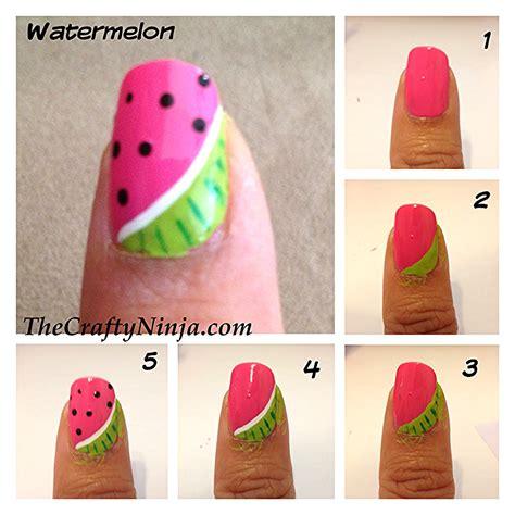 tutorial watermelon nail design kreare tutorial la nail art sempre pi 249 di moda