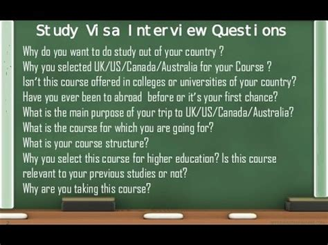 F1 Visa Questions And Answers For Mba Students by Prepare For F1 Student Visa Answers Doovi