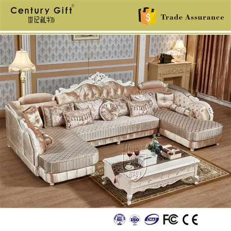 Sarung Sofa Europe Part 2 Limited european style luxury living room combo corner fabric sofa baroque style furniture hk55 in