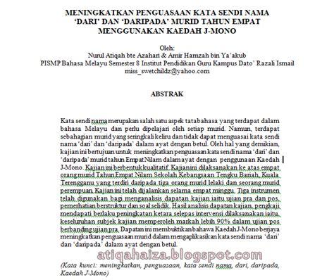 format penulisan abstrak kajian contoh cara penulisan prosiding dalam kajian tindakan