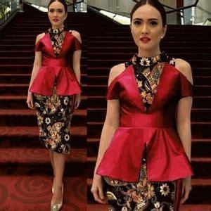 Kebaya Cape Brukat Mix Rok Plisket baju dress kebaya modern cantik terbaru murah